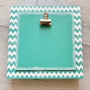 Hobby Lobby Teal and White Chevron Picture Frame